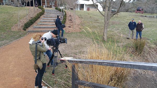 Filming at Mulloon Creek Natural Farms