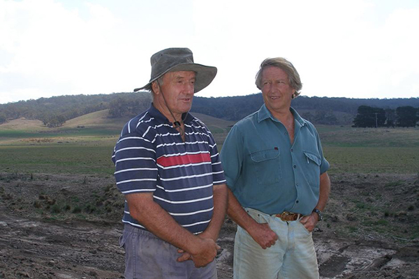 Tony Coote and Peter Andrews (pictured here in 2006) developed a friendship through their shared love ofd the land.