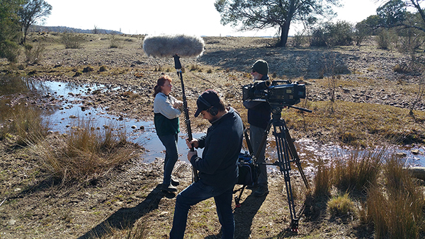 Australian Story filming at Mulloon Creek.