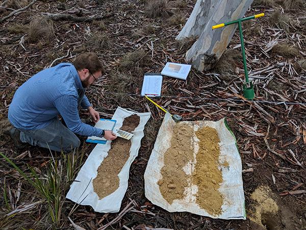 Testing soils on the Home Farm
