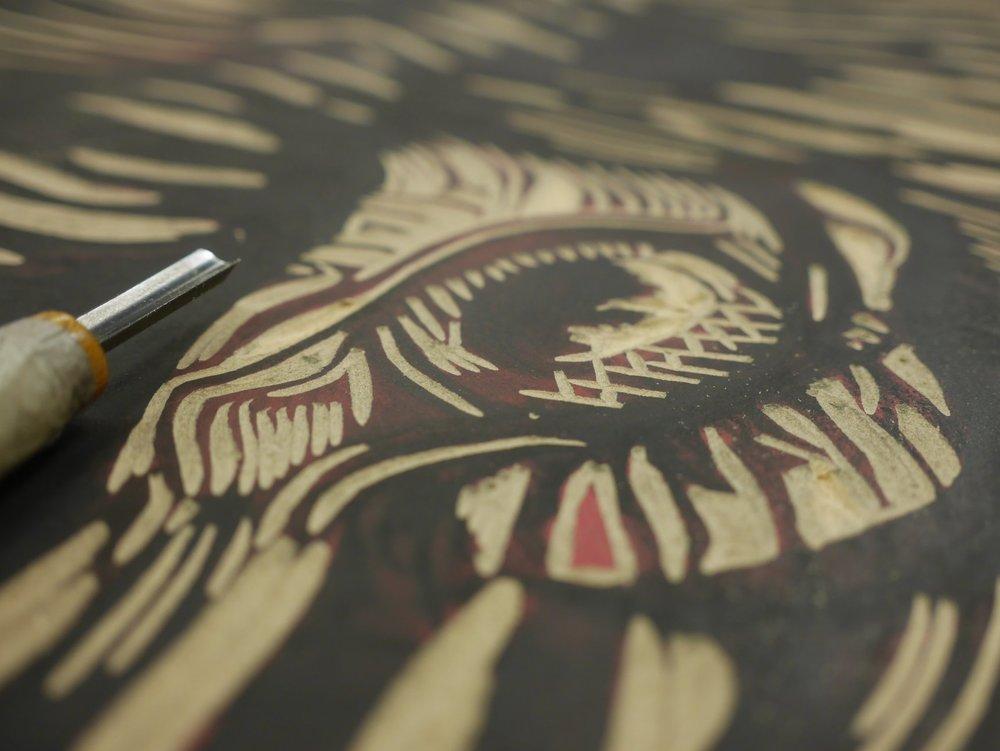 Carving details...