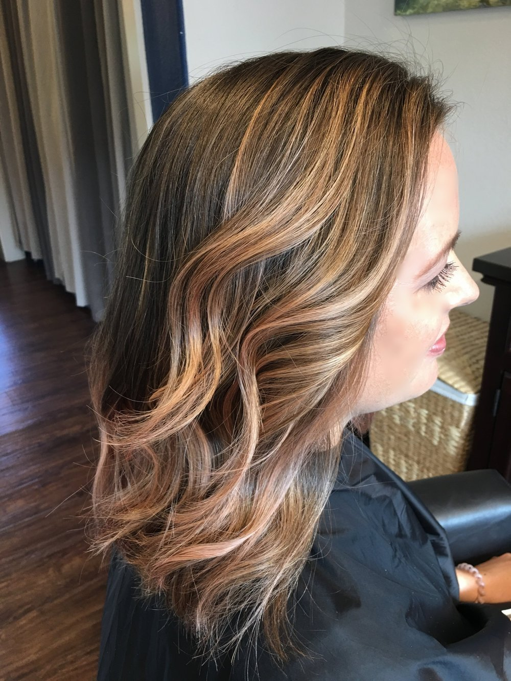 Highlights with a hint of Rose