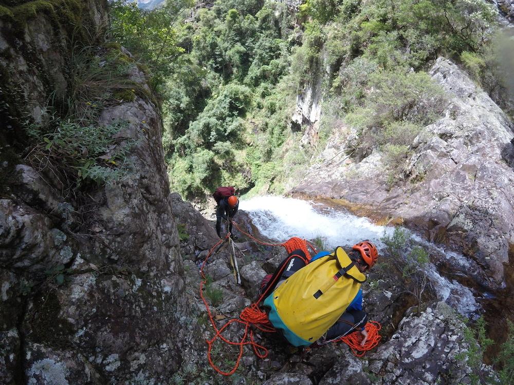descending a canyon