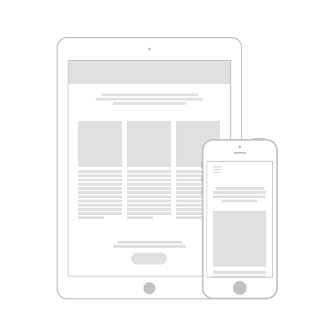 Responsive websites for mobile phones and tablets