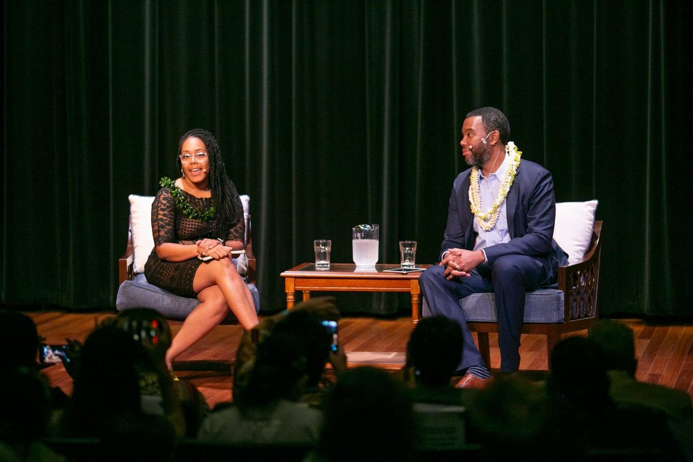 Dr. Akiemi Glenn and Ta-Nehisi Coates. Photo: Shuzo Uemoto