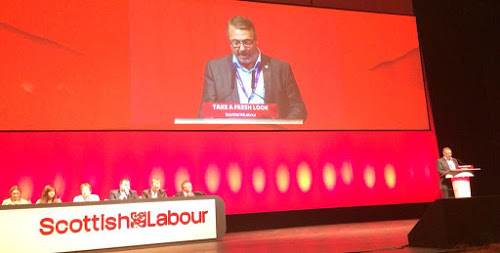 George McIrvine, Labour Link officer and Branch Secretary speaking at the Scottish Labour Party Conference, October 2015