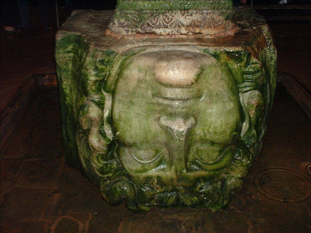 Head of Medusa at the Basilica Cistern AKA Yerebatan Saray