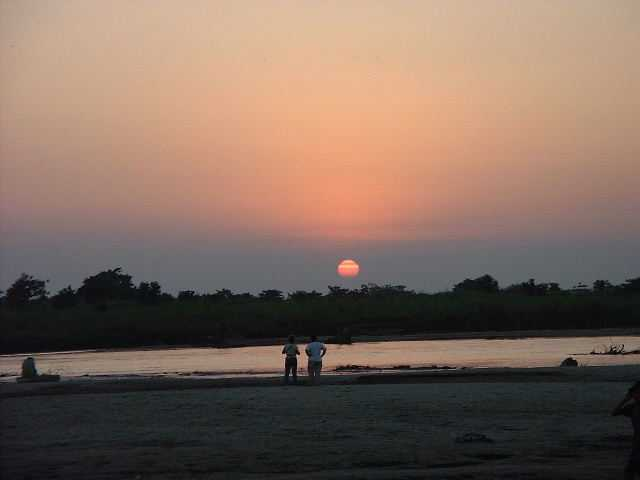 Sunset over Royal Chitwan from the Suaraha side of the Rapti river