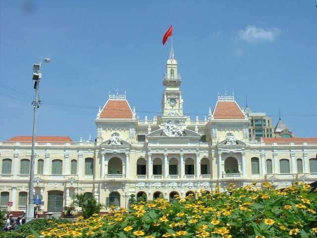 The People's Committee building in Saigon - the most photographed building in Vietnam