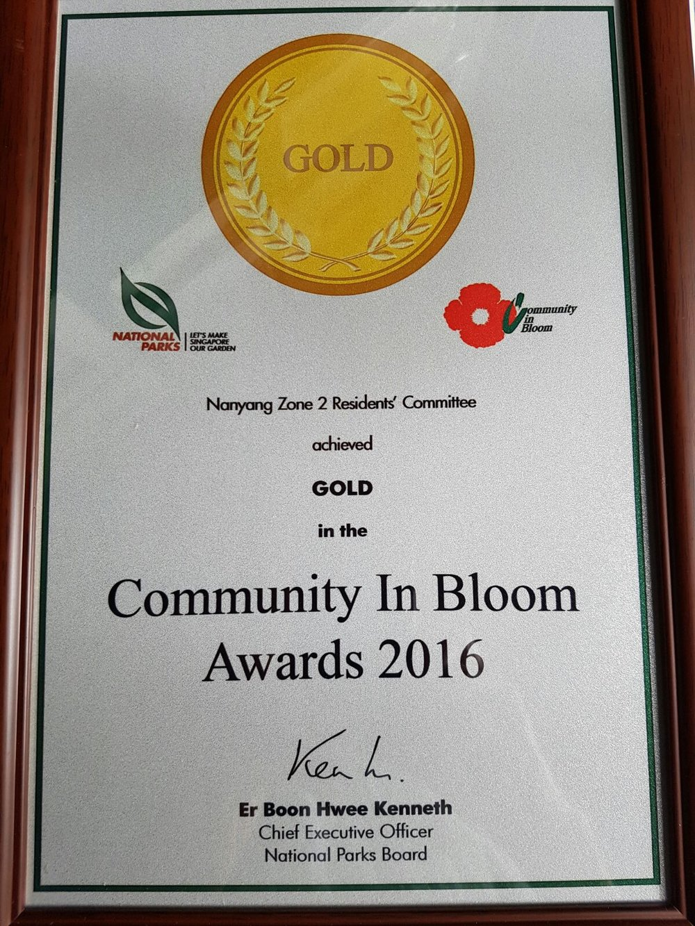 Gold medal from Community in Bloom (2016, 2014, 2012), Silver (2010)
