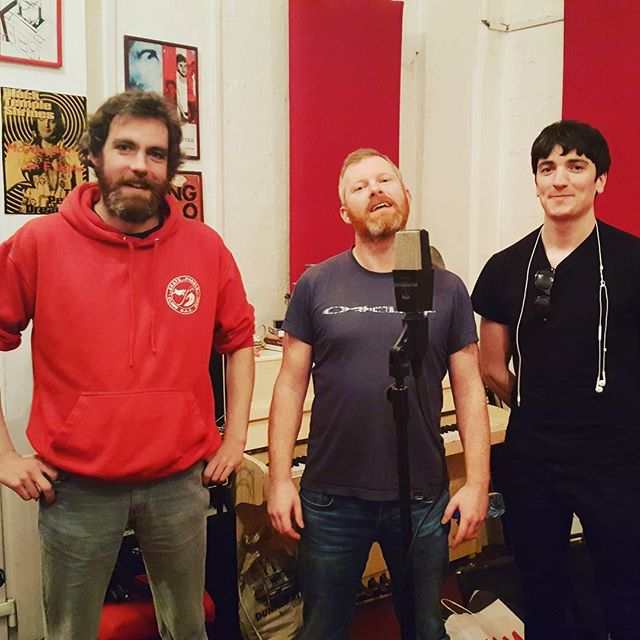 And thats a wrap!! From Left to right #musicproducer Kevin Lowery   #recordingartist Peader Melhorn   ME 😀 I assisted Kevin and played #drums and #bass We finished #tracking the #album today  All sounding great so far  #studiolife #recording #recordingstudio #music @chocofactorydublin #crimesagainst @darklandsaudio