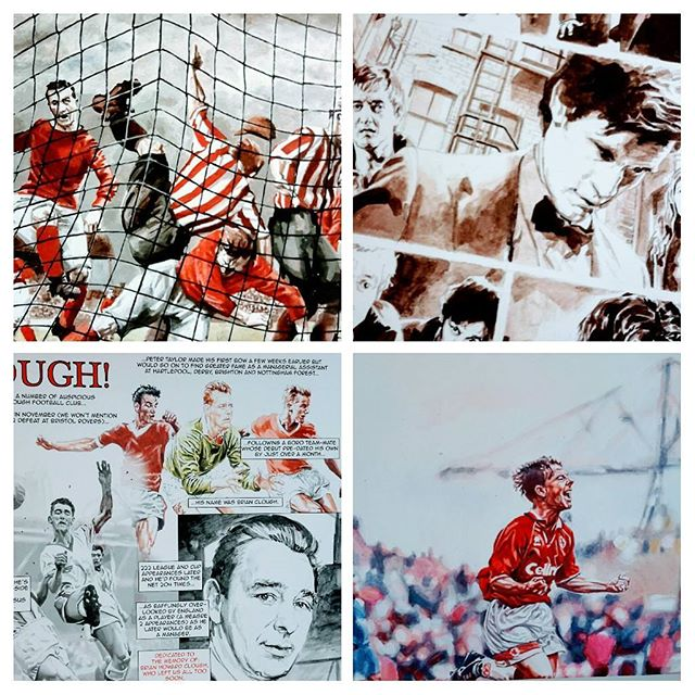 Ladies and gentlemen it is your LAST CHANCE to see the amazing works by Richard Piers Rayner.  TP Coffee House will be open 12pm-4pm before the Boro v Chelsea game on Sunday just so you can see his amazing works.  Dr Who and the Unseen History of Middlesbrough FC  #lastchance #coffeeandfootball #mfc #UTB #bernieslaven #drwho #middlesbrough #eventsmiddlesbrough #lovemiddlesbrough #brianclough
