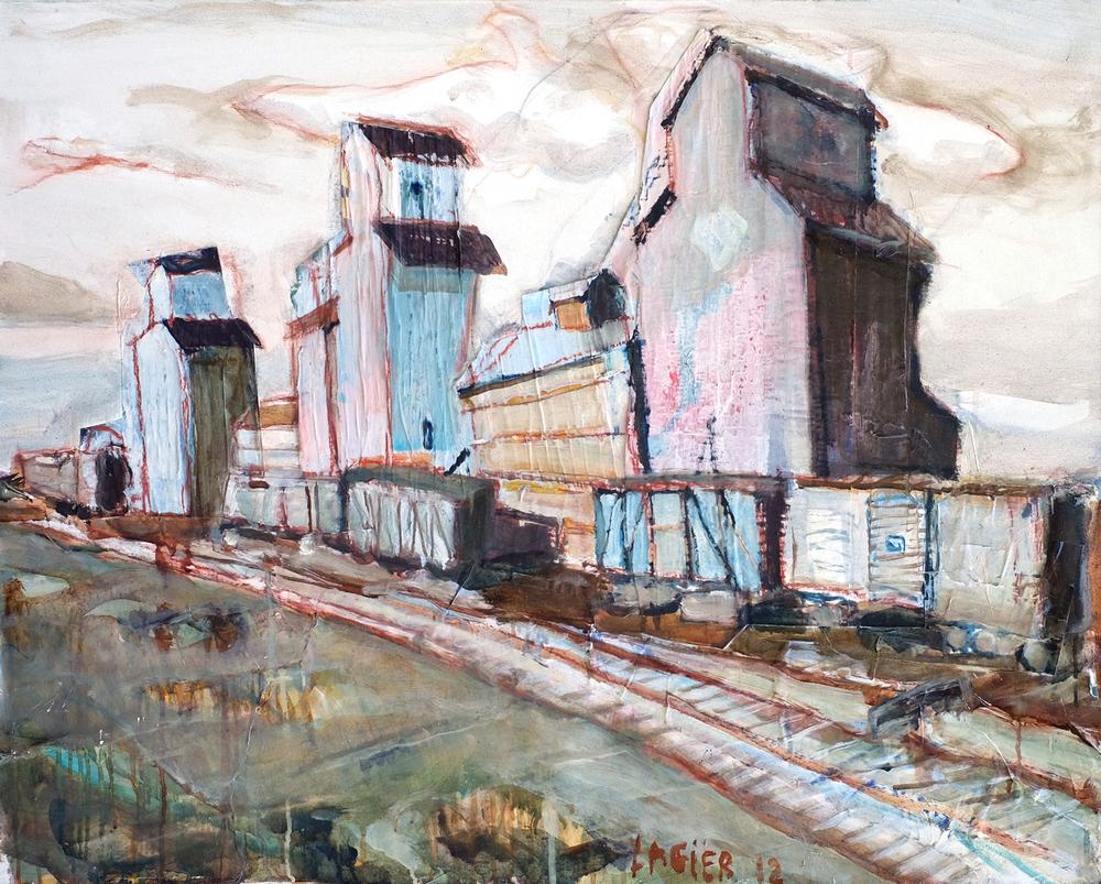 Trains et gare // Format 92 X 73 cm