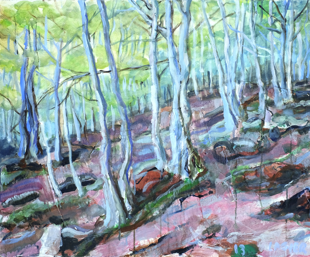 Forêt rose // Format 73 X 60 cm
