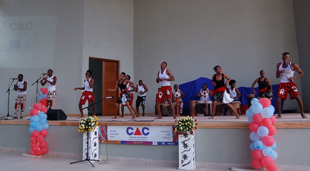A traditional dance from Morogoro featuring two traditional flutes was performed by the CAC team during the Dedication Ceremony.