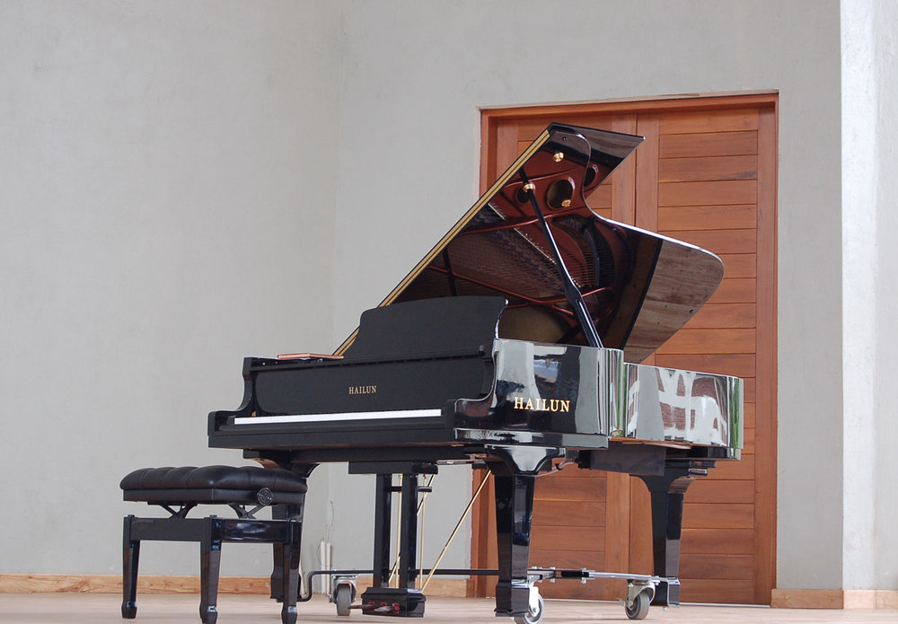 This concert grand piano is probably the third in a university in Africa, and was donated to Tumaini University Makumira by friends from the United States of America. Its permanent home is in the Performance Theatre of the CAC. Special thanks to the World House Music and all the donors who made this possible.