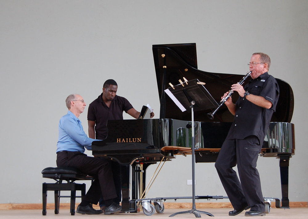The piano (Randy Stubbs) and clarinet (Gary Sperl) music was part of the Chamber Music concert.