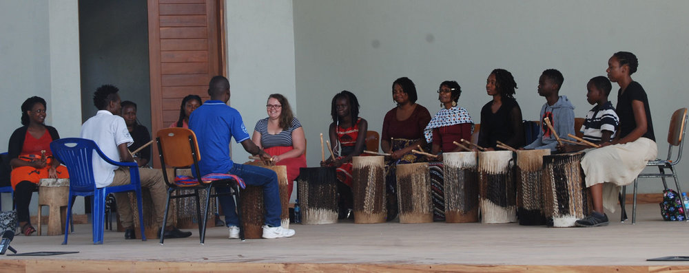Drumming the rhythmic patterns of Africa!