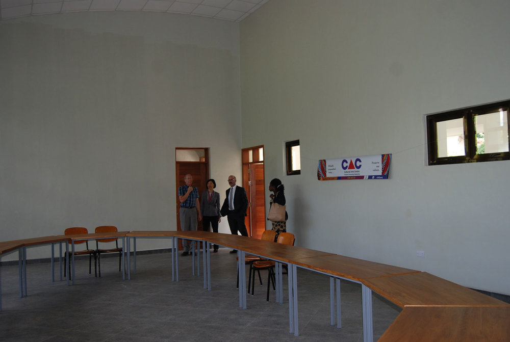 The furniture is inside the Conference Building.