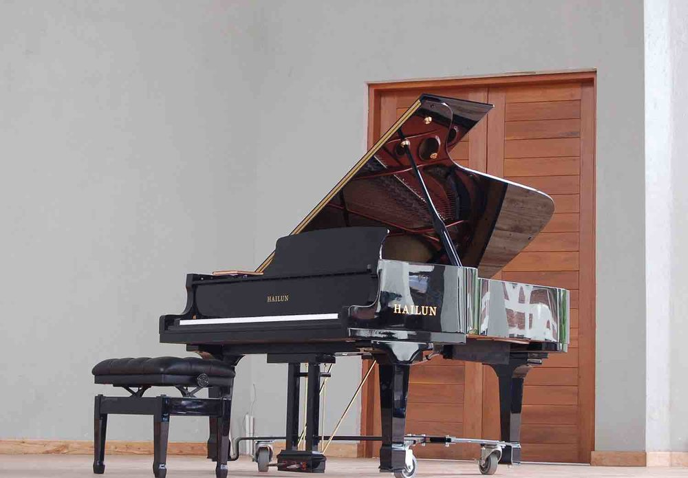 the grand piano at the centre