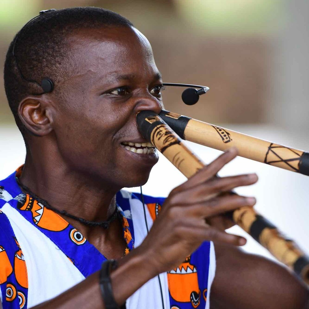 LINGWANA CHANDE - Six started learning flute when he was 8 years old from his grandfather. Since then he has studied with different groups and performed at many festivals across the world including DoaDoa, Bayimba festival, Sauti za Busara, and the HIV Festival in Stratford, England.