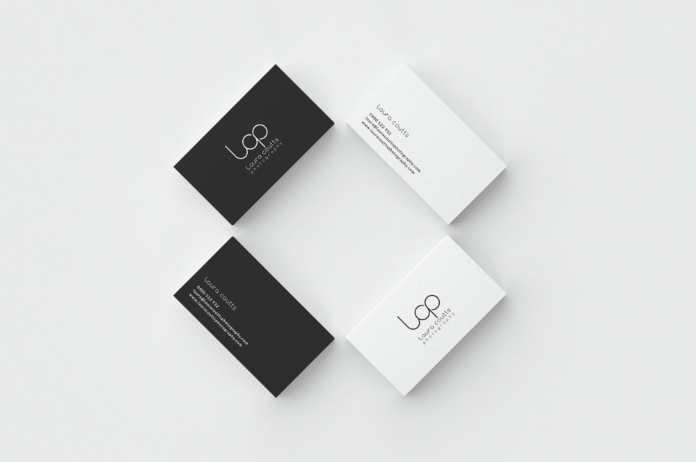 Business card and logo design for small business for Laura Coutts Photography