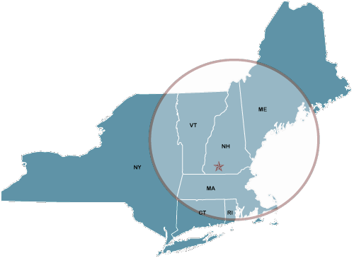 serving customers in Connecticut, Maine, Massachusetts, New Hampshire, New York, Rhode Island, and Vermont.