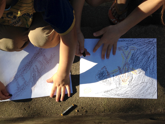 kids cave painting project