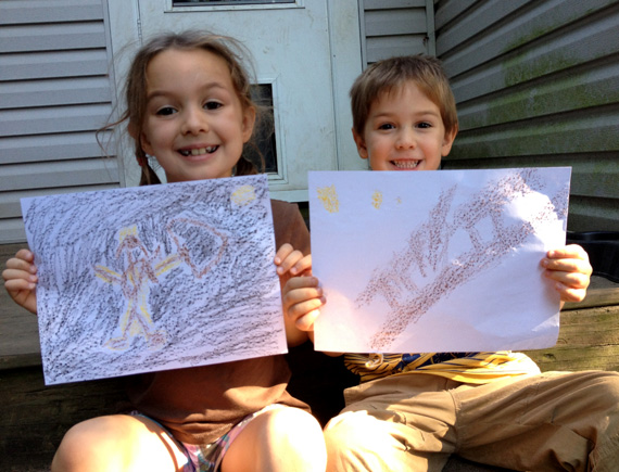 Kids cave painting art project