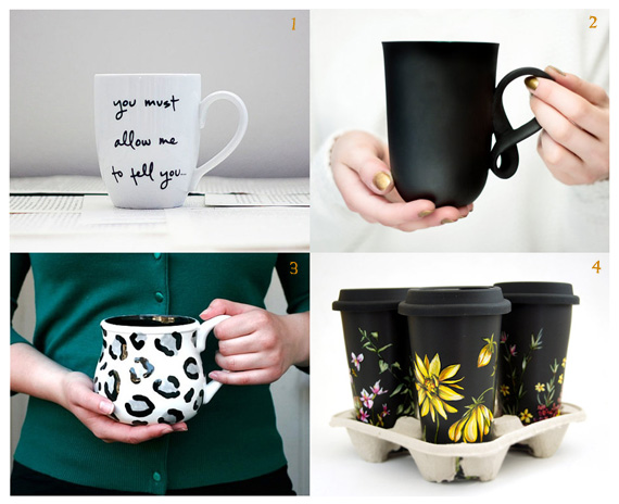 Handmade mugs to brighten your mornings | Erin Beutel Photography