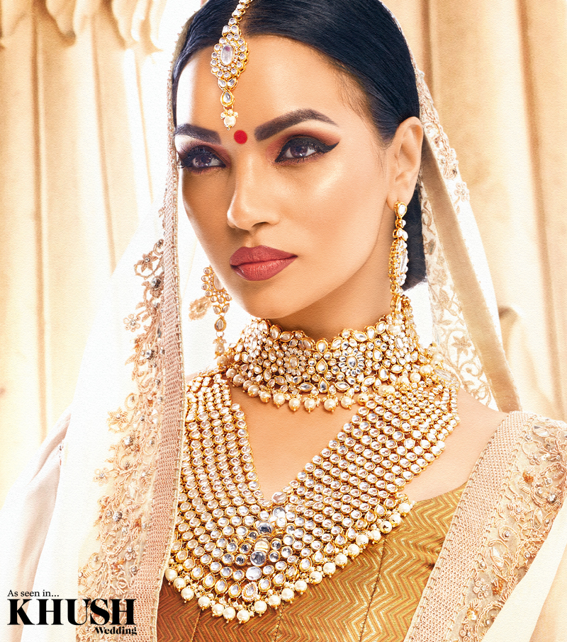 Gold Silver 'MAHI' Bridal Choker Set