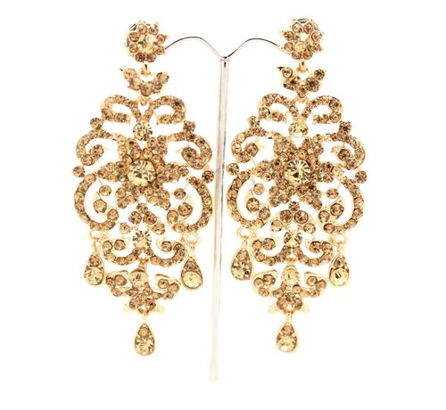 Antique Gold Drop Dangle Chandelier Earrings - Antique Gold Drop Dangle Chandelier Earrings — Glimour Jewellery