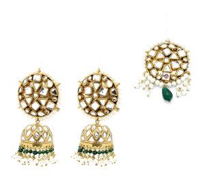 8e23683dd Indian statement jhumka earring tikka jewellery set pakistani set bollywood  jewelry