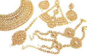d91817ad8 Bridal Necklace Sets Glimour Jewellery. Amazon Com Jison Gold Plated  Wedding Jewelry ...