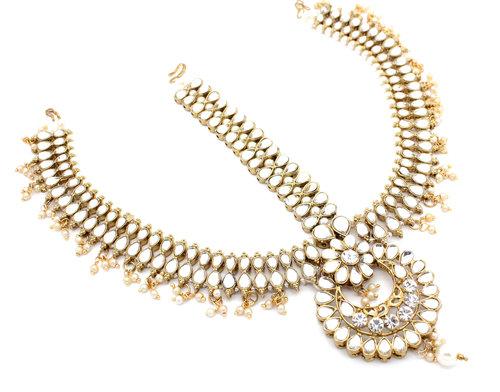 bff87ffb1 Statement Indian Kundan Padmavati Matha Patti Headpiece Head Chain