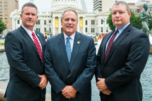 Major Case Squad Commander and Chief Deputies, Left to Right: Major Jeffrey Connor, Captain Dan DeCarli, Captain Randy Boden
