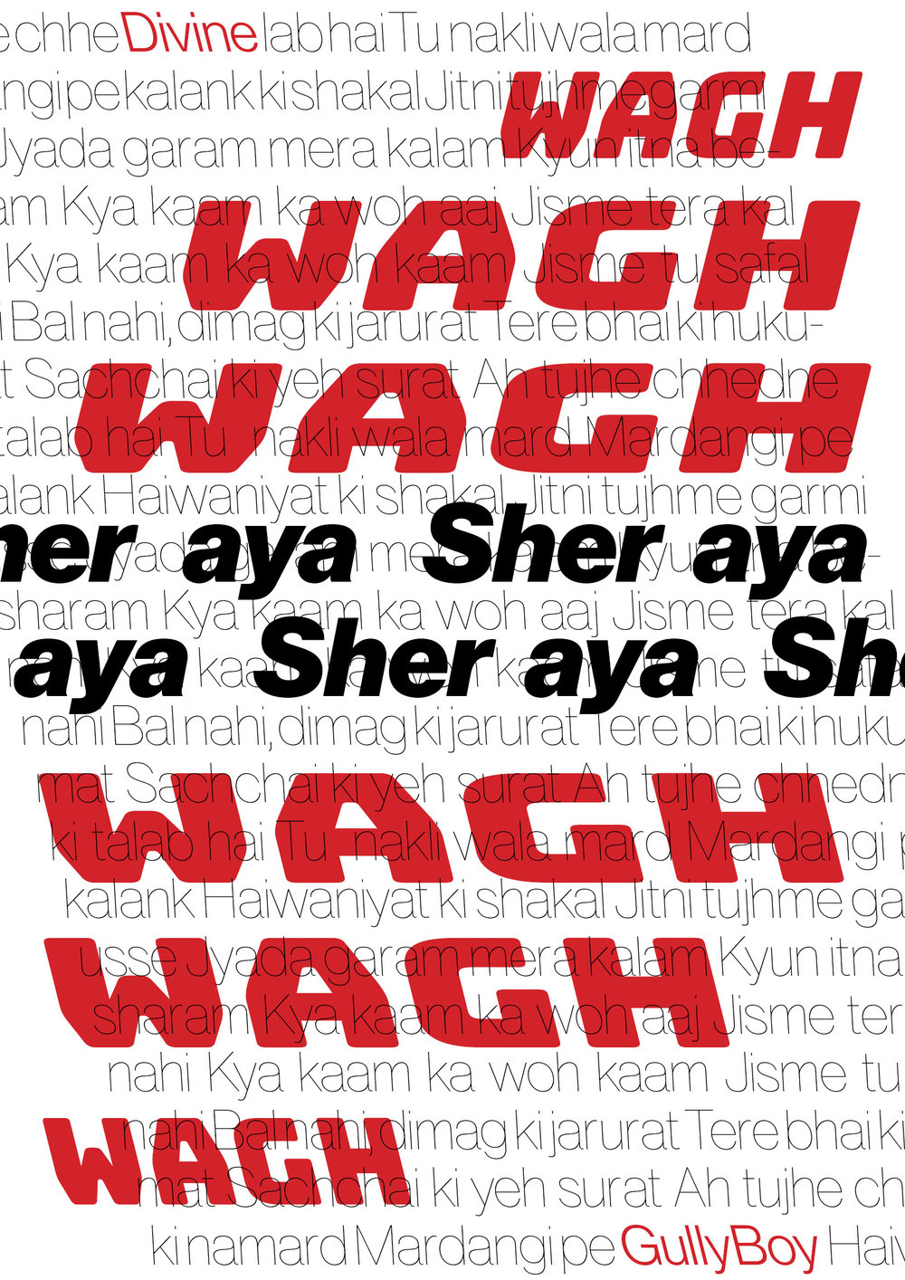 Posters designed with cheesy Bollywood lyrics or Hip Hop stars from India