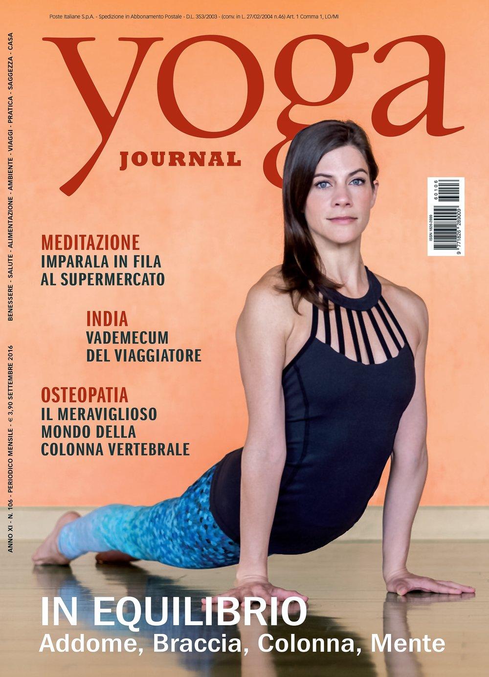Copy of Yoga Journal Italy - September 2016