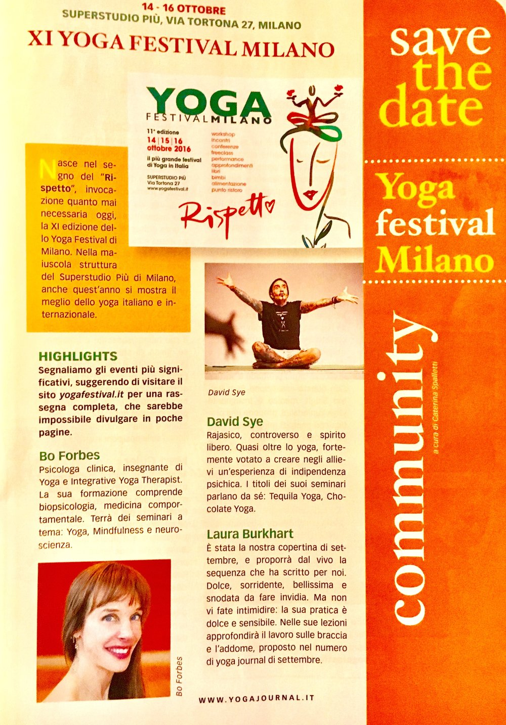 Copy of Yoga Journal Italy - October 2016