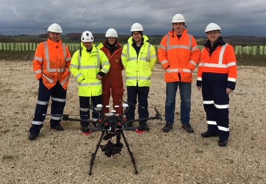 DJI M600 Matrice National Grid Drone Team