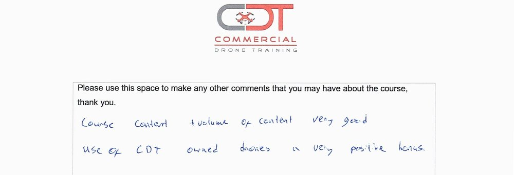 Drone Training Feedback Commercial Drone Training