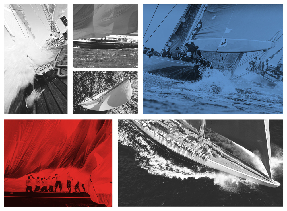 America's Cup Superyacht Regatta and J Class Images montage