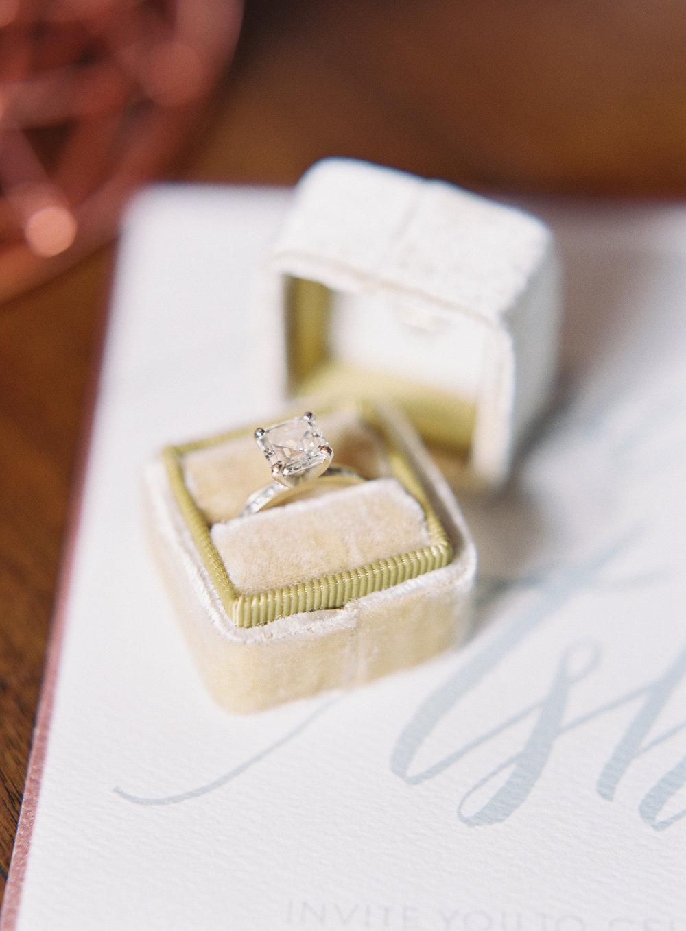 Rose Gold Wedding Details | The Loft on Pine Wedding | Green Apple Event Co | Sposto Photography