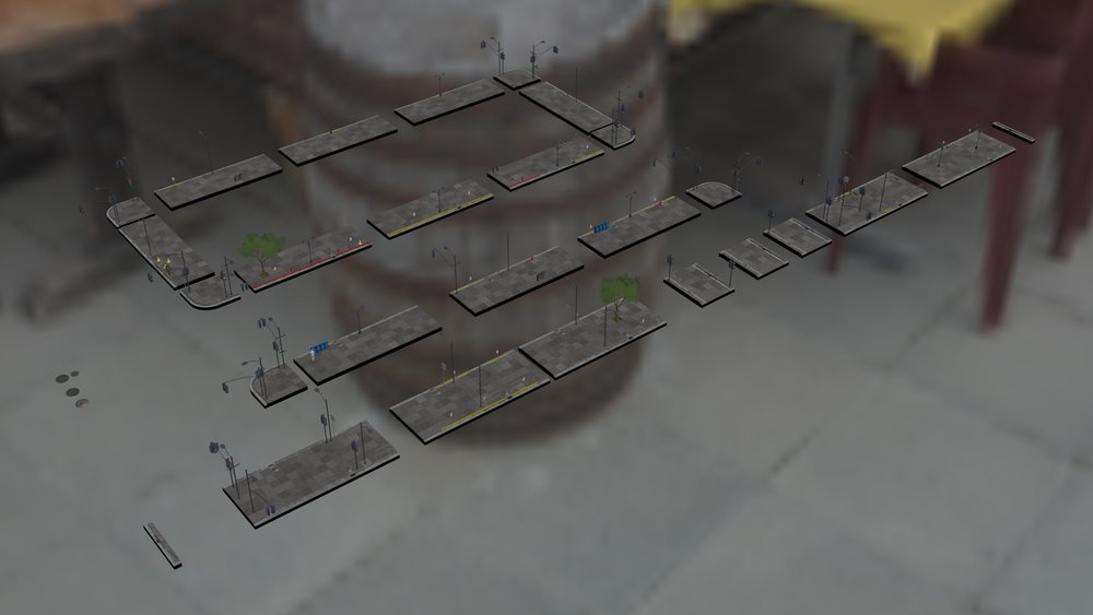 Our new modular 3d sidewalk elements -