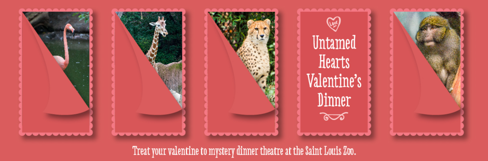 Fri., Feb. 10, 6-10 p.m.; Sat., Feb. 11, 6-10 p.m., $150/couple, call 314-646-4897 for reservations. Saint Louis Zoo, 1 Government Dr., Forest Park, St. Louis.