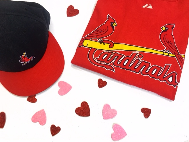 St. Louis Cardinals tee.............$8     St. Louis Cardinals hat.............$5