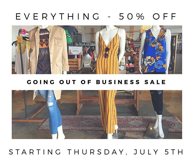 Everything 50% off!