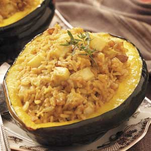 Rice-Stuffed Acorn Squash. Photo Credit: Taste of Home