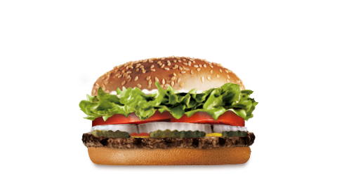 A Whopper. Photo credit: Burger King Web site
