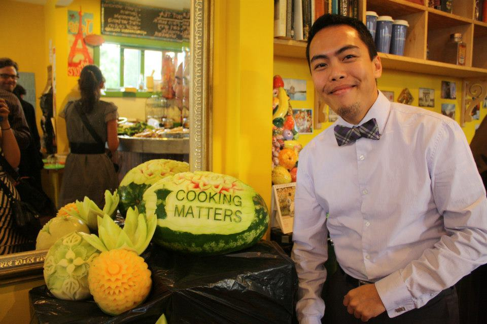 Billy really wowed us with his fruit carving skills at the volunteer appreciation event at Le Petit Zinc this fall.